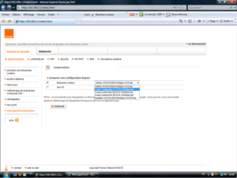 Restaurer une configuration de la Business Livebox.