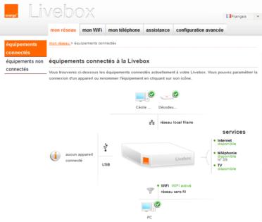 gestionnaire orange livebox