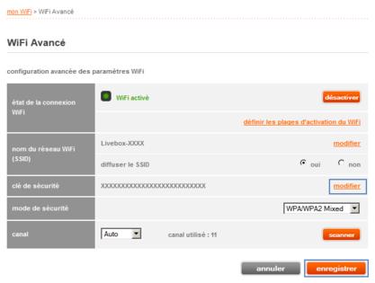 livebox 2 modifier la cl de s curit assistance orange. Black Bedroom Furniture Sets. Home Design Ideas