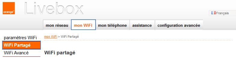 Livebox : activer ou désactiver le wifi partagé - Assistance Orange