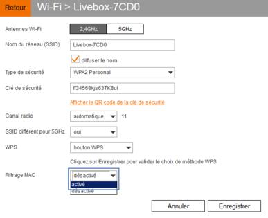 Livebox 4 filtrer les quipements qui se connectent en - Comment augmenter la portee du wifi livebox ...