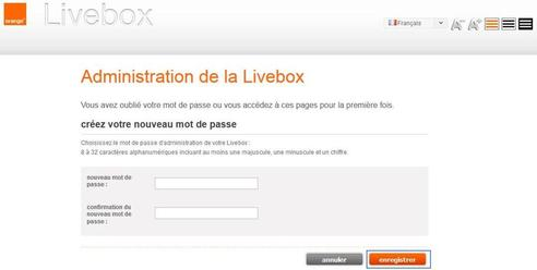 livebox play acc der l 39 interface de configuration assistance orange. Black Bedroom Furniture Sets. Home Design Ideas