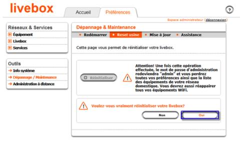 Livebox pro v2 r initialiser la livebox via l interface de configuration assistance orange - Orange optimale pro office ...