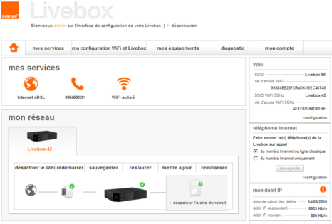 Livebox pro v4 acc der l interface de configuration assistance orange - Orange optimale pro office ...