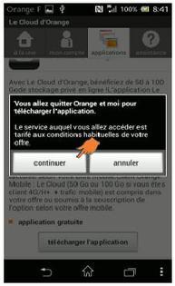 play store android t l charger et installer une application assistance orange. Black Bedroom Furniture Sets. Home Design Ideas