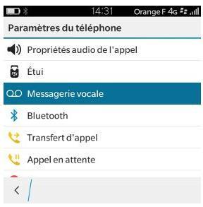 blackberry classic enregistrer le num ro de la messagerie vocale assistance orange. Black Bedroom Furniture Sets. Home Design Ideas