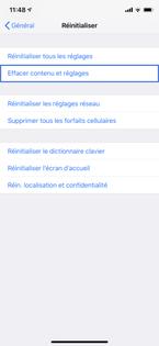 apple r initialiser votre iphone sans supprimer le forfait cellulaire li l 39 esim