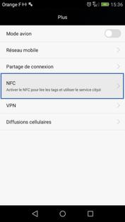 Huawei P8 lite : activer et désactiver la fonction NFC