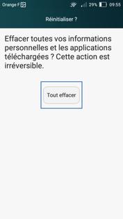 Huawei Y5 : réinitialiser le mobile - Assistance Orange