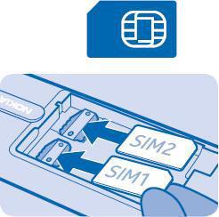 mobile tablette tous les mobiles et tablettes installer utiliser debuter prendre en main la carte sim nokia  dual inserer