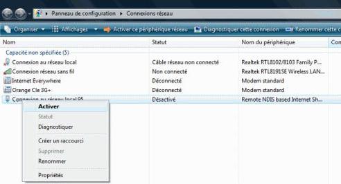 Orange hi 4g activer ou d sactiver le partage de connexion en usb assistance orange - Activer office par telephone ...