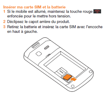 orange hapi 50 ins rer la carte micro sim assistance. Black Bedroom Furniture Sets. Home Design Ideas