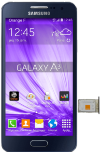 Samsung Galaxy A3 Inserer La Carte Nano Sim Assistance Orange