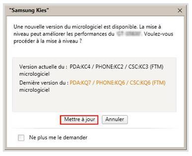 samsung : mettre à jour la version logicielle de votre mobile