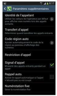 Samsung Galaxy S4 Présenter Ou Masquer Son Numéro Dappel