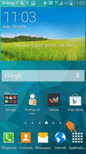 Samsung Galaxy S5 : sélectionner la langue d'affichage