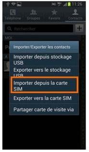 transferer contact carte sim vers telephone samsung Samsung Galaxy Trend Lite : copier les contacts d'un répertoire à