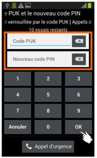 comment obtenir code puk iphone 5