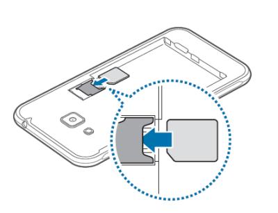 Samsung Galaxy J3 2016 : insérer la carte Micro-SIM - Assistance Orange