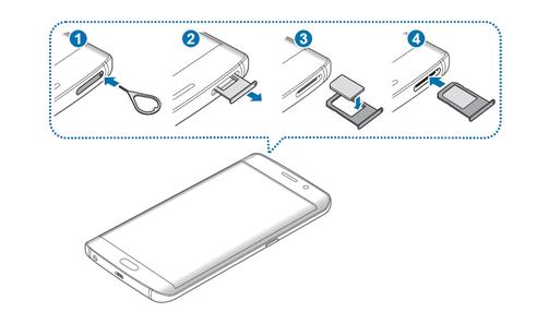 galaxy s6 carte sim Samsung Galaxy S6 edge+ : insérer la carte Nano SIM   Assistance