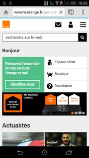 Sony xperia z3 naviguer sur internet assistance orange - Installer portail orange sur le bureau ...