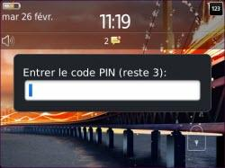 Désimlocker votre BlackBerry 9720 : saisir le code de