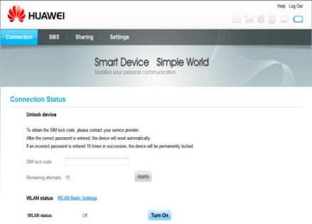 Desimlocker Votre Huawei Domino 4g E5776 Saisir Le Code De