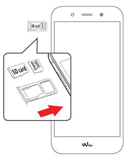 wiko wim lite carte sim Wiko WIM Lite : insérer la carte mémoire   Assistance Orange