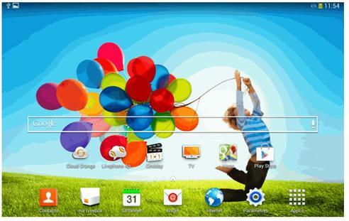 Samsung galaxy tab 3 7 wifi changer de fond d 39 cran et d for Fond ecran tablette samsung