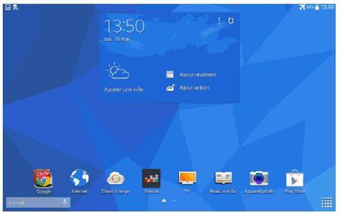 Samsung galaxy tab 4 10 1 wifi 4g changer de fond d for Fond ecran tablette samsung