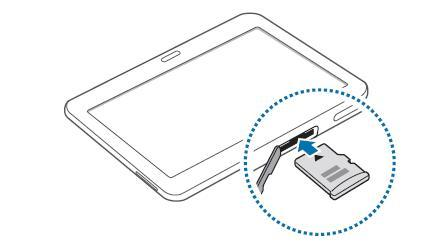 Samsung Galaxy Tab 4 10 1 Wifi 4g Introduire La Carte Memoire Assistance Orange