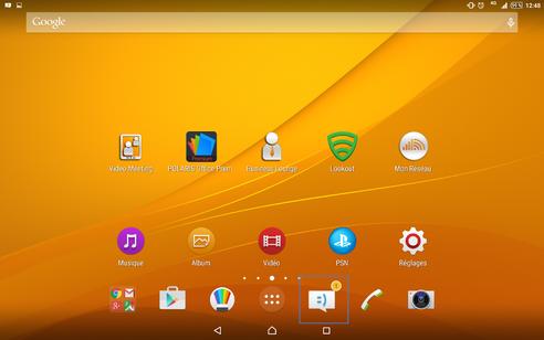 android 5 lollipop pour tablette sony lire et effacer un sms re u assistance orange. Black Bedroom Furniture Sets. Home Design Ideas