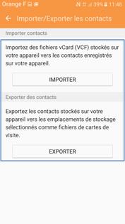Slectionnez Exporter Pour Copier Des Contacts Du Ou Vers Le Tlphone