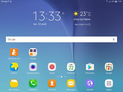 Android 6 Marshmallow Pour Tablette Samsung Changer De Fond D Ecran Assistance Orange