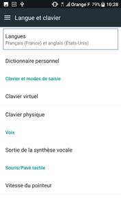 langue francaise pour htc