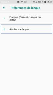 la langue francaise pour htc