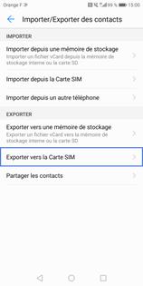 Comment Copier Les Contacts De La Memoire Du Telephone Vers La Memoire De La Carte Sim Sur Votre Mobile Huawei Assistance Orange