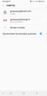 Ajouter compte hotmail sur android