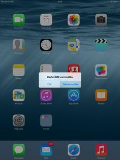carte sim verrouillée orange iPad iOS 8 : saisir le code PIN   Assistance Orange