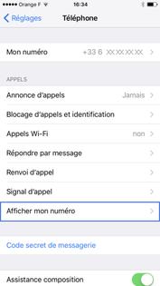 meilleur choix tout à fait stylé Design moderne iPhone iOS 10 : présenter ou masquer son numéro - Assistance ...