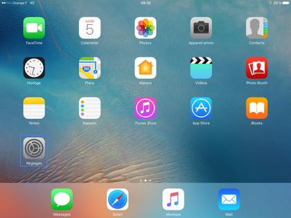 foto de iPad iOS 10 : personnaliser votre écran d'accueil - Assistance Orange