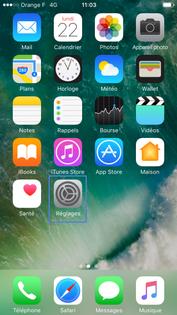 localiser mon iphone ios 10