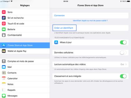 Ipad Ios 11 Creer Un Compte Pour Acceder A L Appstore Assistance Orange