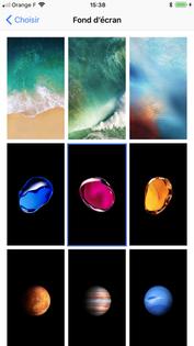 Plus adapté iPhone iOS 11 : changer de fond d'écran et d'écran de veille FT-73