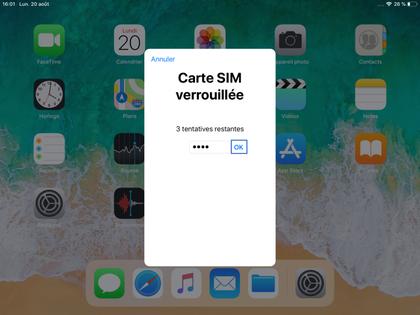 carte sim verrouillée orange iPad iOS 12 : saisir le code PIN   Assistance Orange
