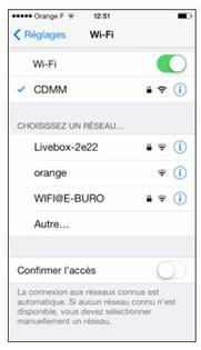 iphone ios 8 se connecter une livebox assistance orange. Black Bedroom Furniture Sets. Home Design Ideas