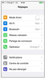 iphone ios 8 activer ou d sactiver le partage de connexion assistance orange. Black Bedroom Furniture Sets. Home Design Ideas