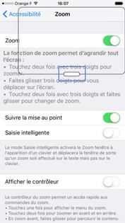 Iphone ios 9 les fonctions d 39 accessibilit sur iphone for Fenetre zoom iphone x