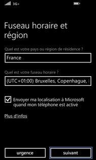 activer localisation windows phone