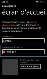 windows phone 8 1 changer de fond d cran de veille assistance orange. Black Bedroom Furniture Sets. Home Design Ideas